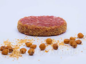 hamburguesa con borde de maiz tostado