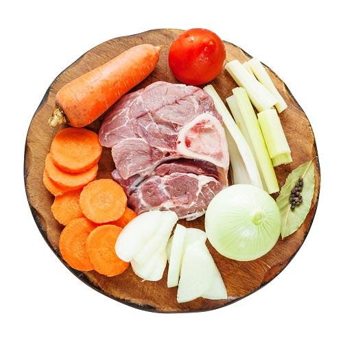 garron de cerdo con verduras