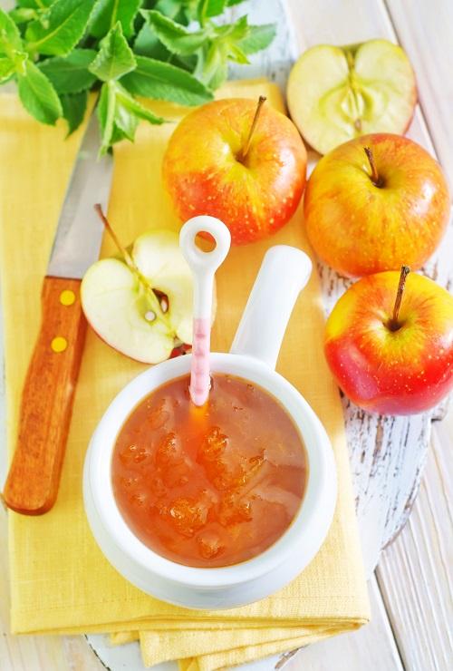 manzana confitada