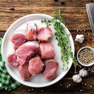 solomillo de cerdo cortado