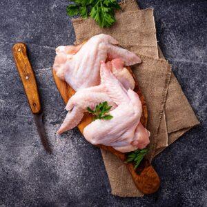Pollo, aves y conejo